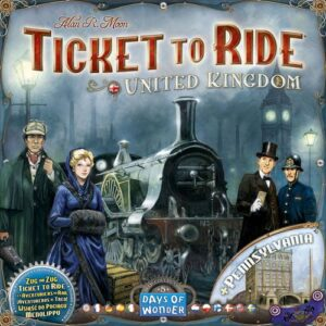 Stalo žaidimas Ticket to Ride - United Kingdom & Pennsylvania