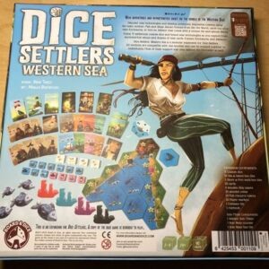 Stalo žaidimas Dice Settlers Western Sea